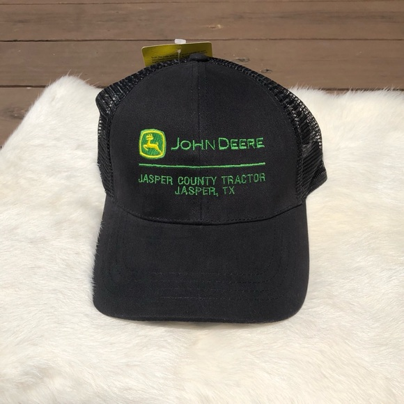38922469ff14b4 John Deere Accessories | All Black Hat With Mesh Back | Poshmark